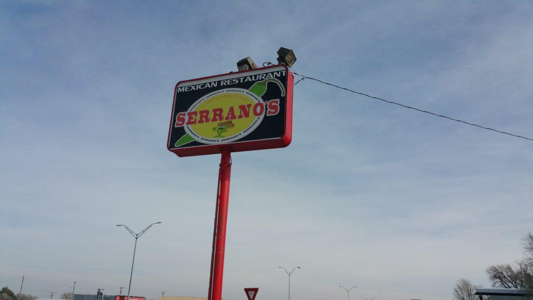 Serrano S Mexican Food Menu